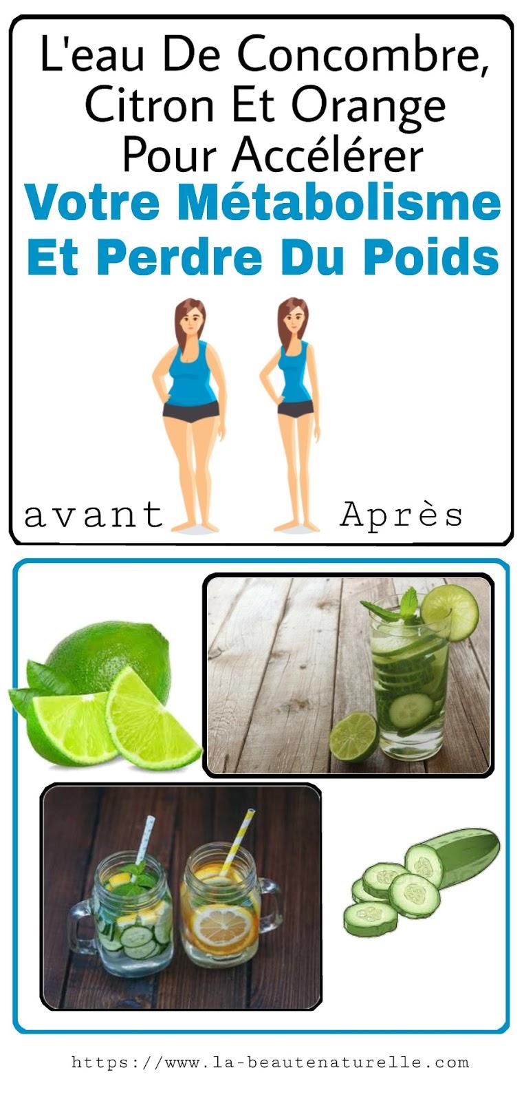 L'eau De Concombre, Citron Et Orange Pour Accélérer Votre Métabolisme Et Perdre Du Poids