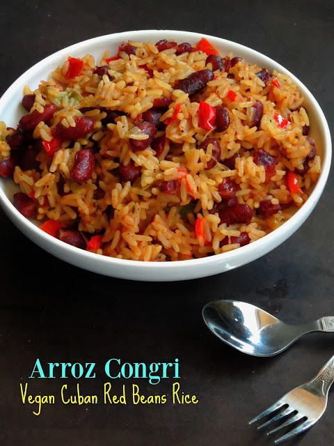 Vegan Cuban Red Beans Rice, Arroz Congri, Congri
