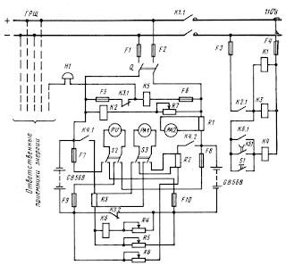 Принципиальная схема аварийных аккумуляторных батарей