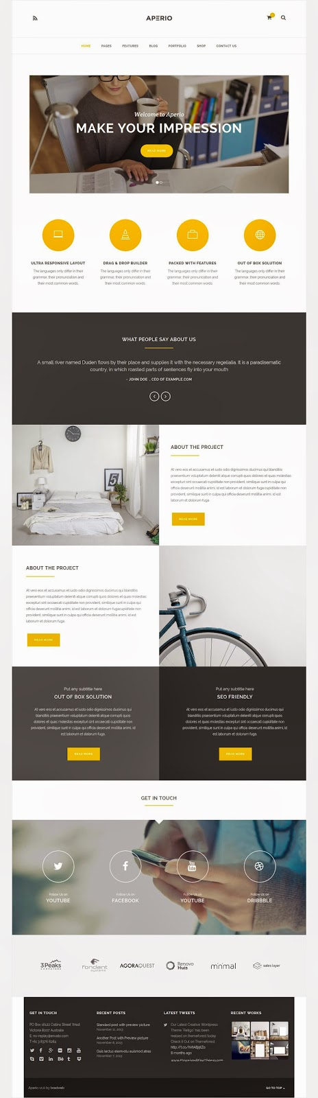 Premium Multipurpose WordPress Theme 2015
