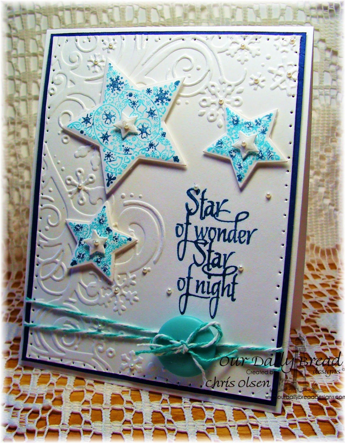 Our Daily Bread Designs, Snowflake Stars, His Birth, Sparkling Stars, designer-Chris Olsen