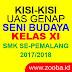 Kisi-Kisi UAS Genap Seni Budaya Kelas XI SMK 2017/2018