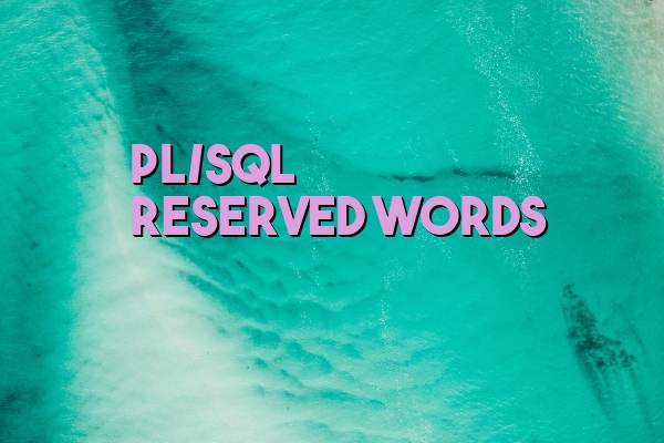 pl sql reserved words