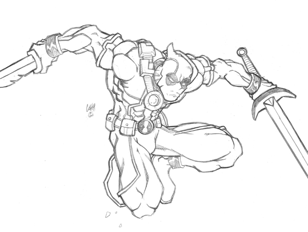 Deadpool Marvel 16 Coloring Pages Printable: Coloring Pages For Kids Free Images: Deadpool Free