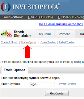 Investopedia Options Simulator