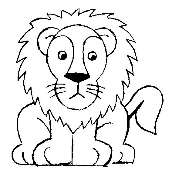 Gambar Mewarnai Singa Untuk Anak - 4