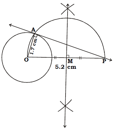 OMTEX CLASSES: 9. Draw a tangent to the circle from the