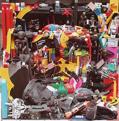 Obras de arte hechas con material reciclado de plástico