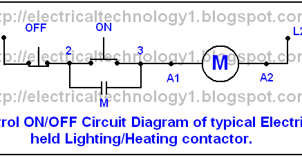 electrically held contactor wiring diagram mechanically held contactor wiring diagram