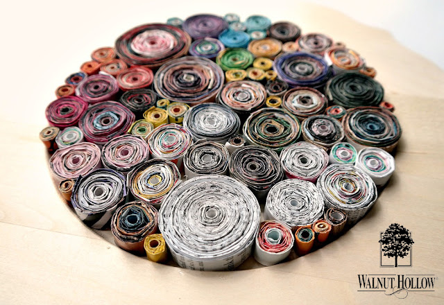 Rolled Magazine Wall Art by Dana Tatar for Walnut Hollow