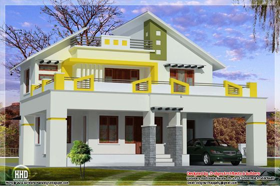 August 2012 kerala home design and floor plans for Metal roof 1500 sq ft house