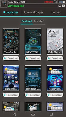 next launcher 3d shell free download