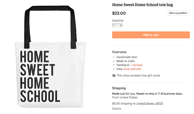 Home Sweet Home School tote