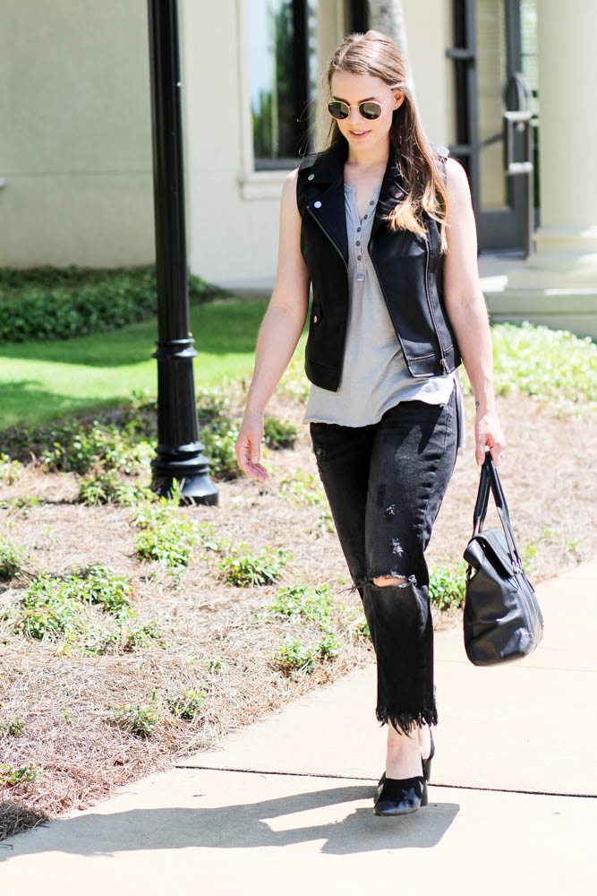 How to wear a leather vest