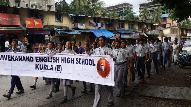 VES Kurla School adopted Nehru Nagar S T Bus stand on Swacha Bharat Abhiyan day