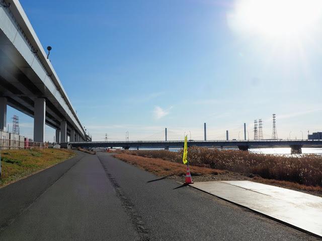荒川自転車道 葛西橋