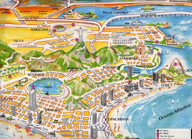Mapas Do Rio De Janeiro Rj Mapasblog