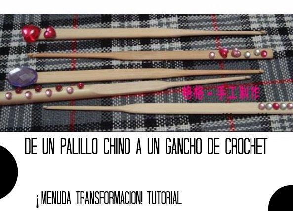 Como hacer Ganchos Crochet con Palillos Chinos