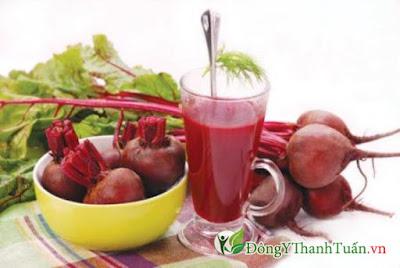 cách thanh lọc giải độc gan bằng củ cải đường