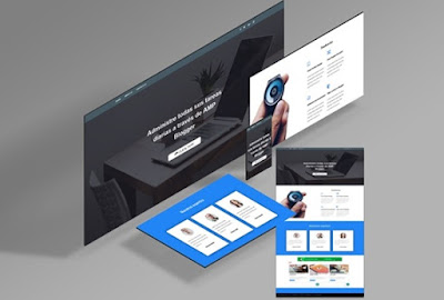download template blogger amp daily, landing page
