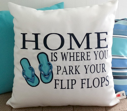 Flip Flops Quote Pillow Cover