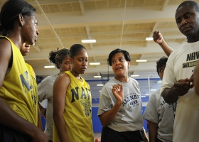 Basketball training.