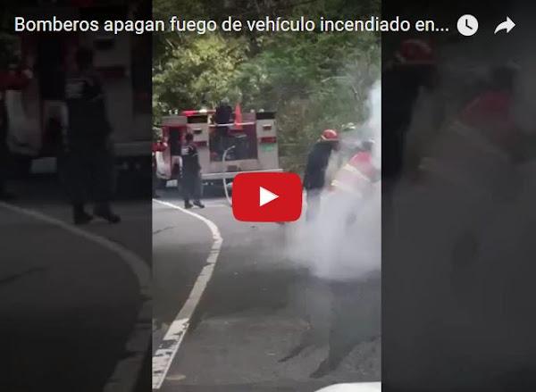 Llenó el tanque de gasolina y se le quemó el carro en El Cafetal