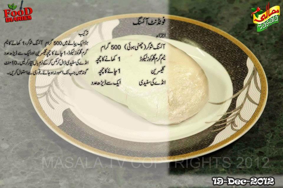 Cake Icing Recipe By Zarnak: Zarnak's Food Diaries: Fondant Icing