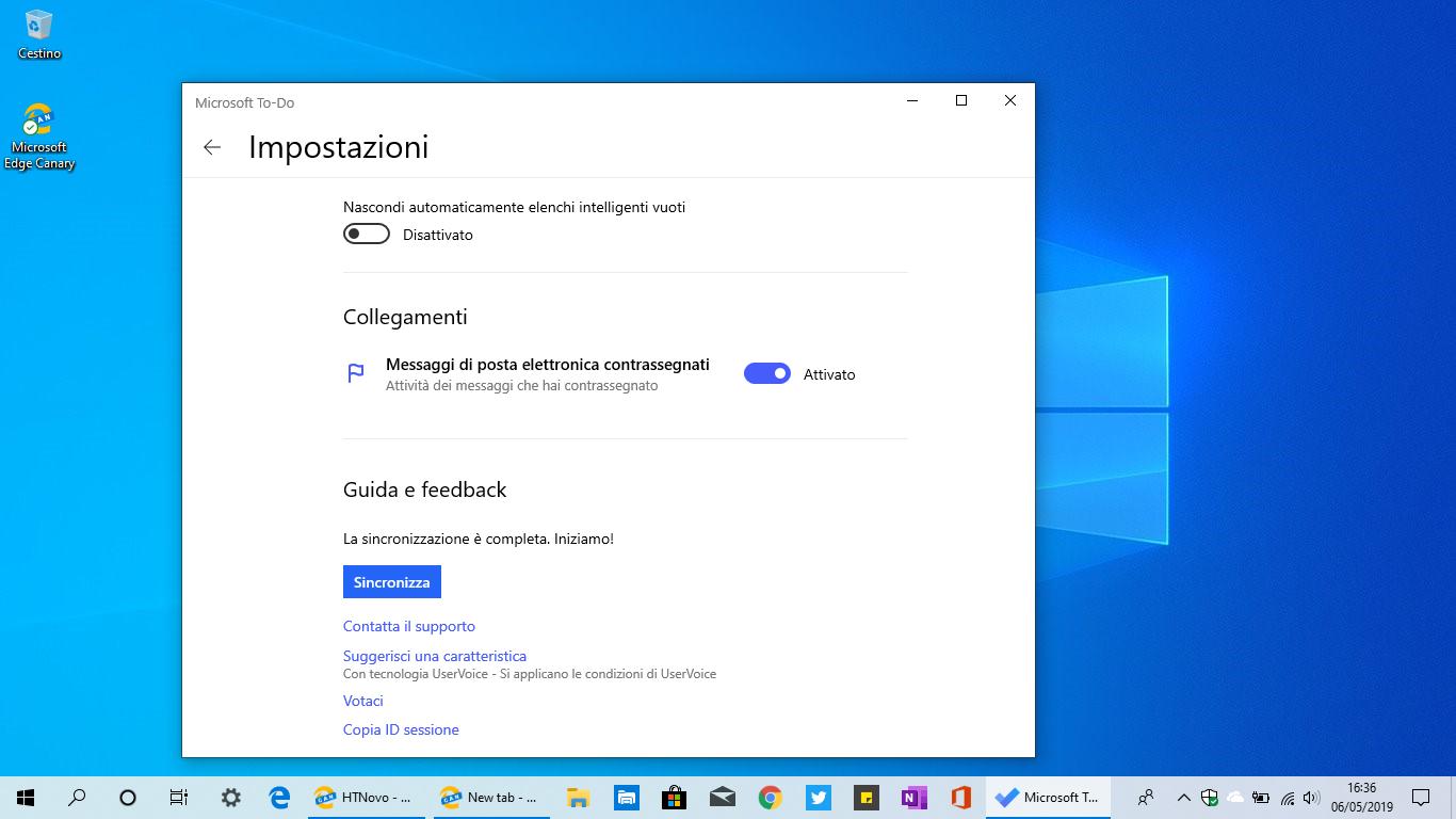 Microsoft To-Do ottiene i messaggi di posta contrassegnati