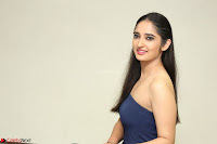 Radhika Mehrotra in sleevless Strap less Blue Gown At Prema Entha Madhuram Priyuraalu Antha Katinam Movie Interview ~  Exclusive 032.JPG