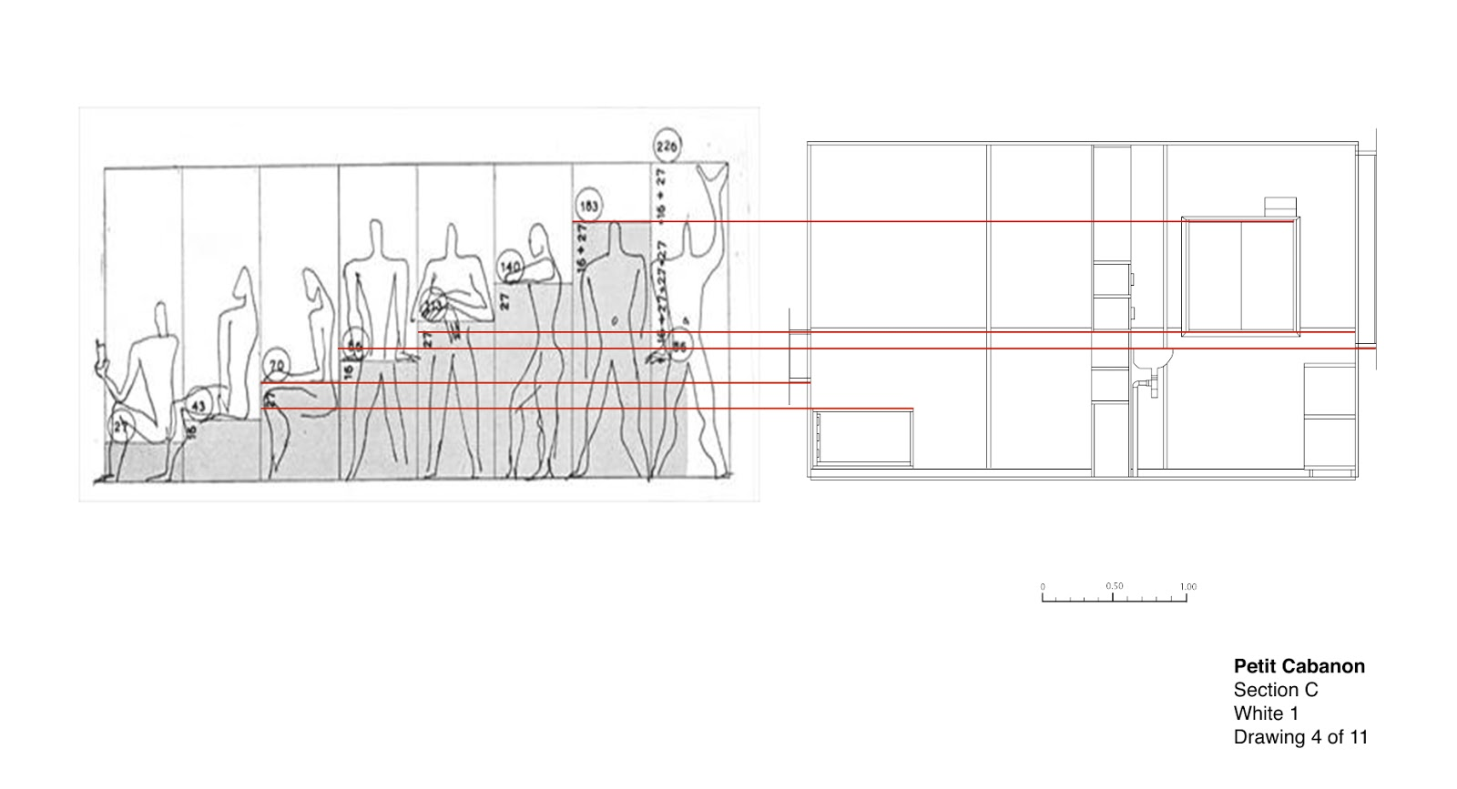 petit cabanon application of le modulor. Black Bedroom Furniture Sets. Home Design Ideas