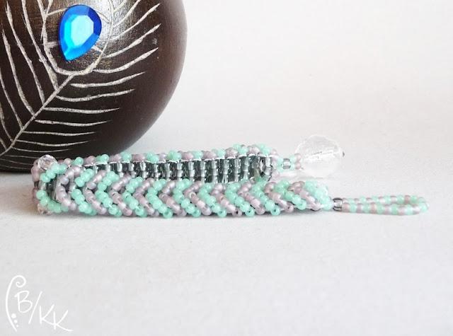 bransoletka warkoczyk ladder stitch | ladder stitch bracelet