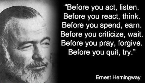 Kata Kata Bijak Ernest Hemingway Dalam Bahasa Inggris Dan Artinya Yang Terbaik Kata Kata Bijak Bahasa Inggris Dan Artinya