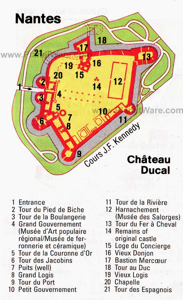 Castillo de los Duques de Bretaña en Nantes.