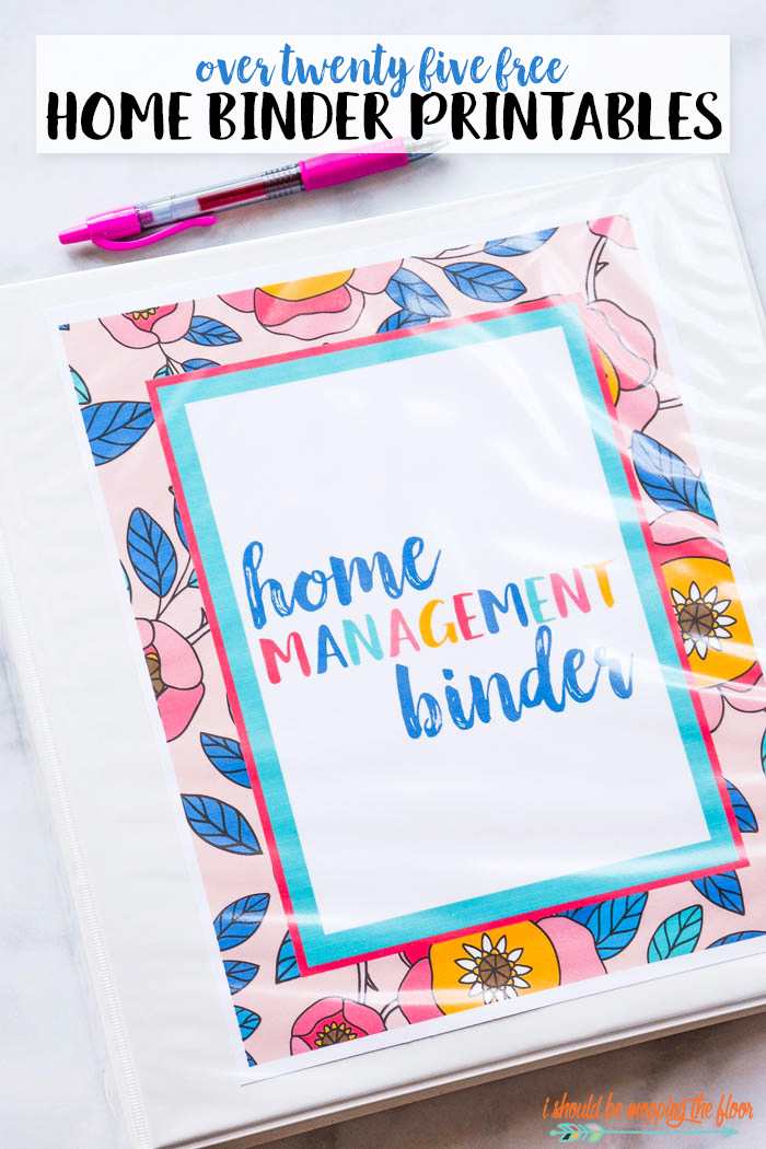 image relating to Free Printables for Home named Absolutely free Residence Binder Printables i ought to be mopping the flooring