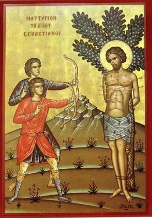 Αποτέλεσμα εικόνας για Ὁ Ἅγιος Σεβαστιανὸς ὁ Μάρτυρας