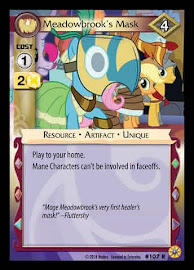 My Little Pony Meadowbrook's Mask Friends Forever CCG Card
