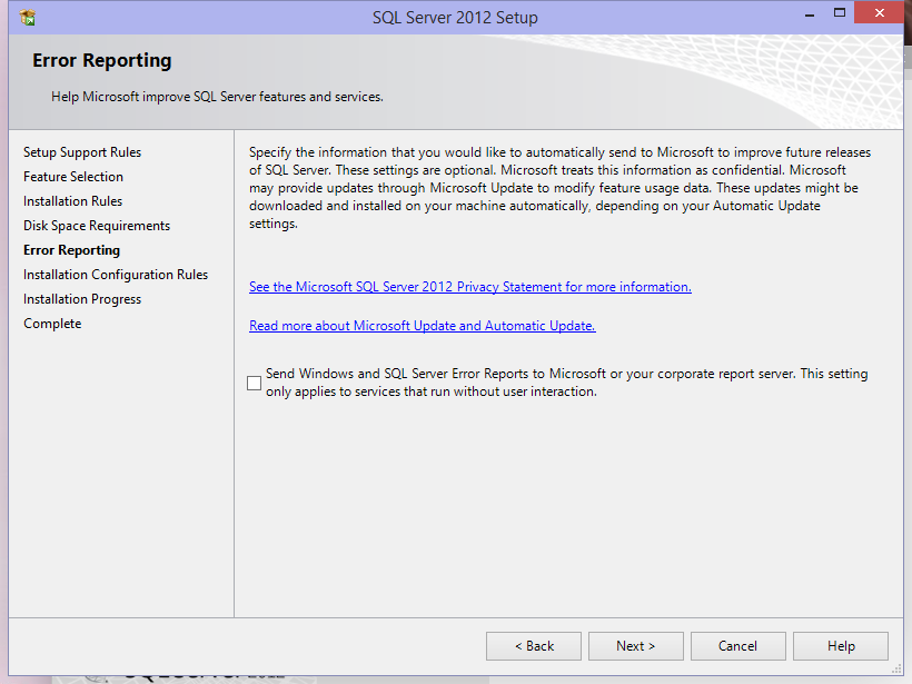 Microsoft to SQL server features