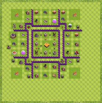 War Base Town Hall Level 7 By Sayed Rasikh (War winner Layout)