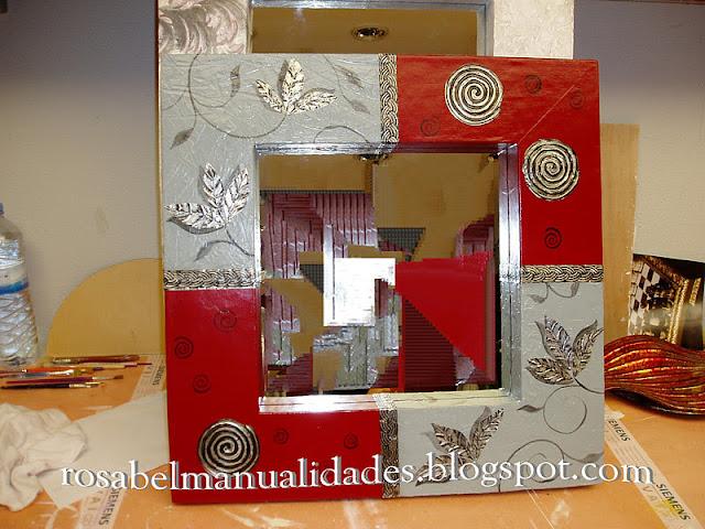 Rosabel manualidades marcos para espejos - Manualidades cuadros modernos ...