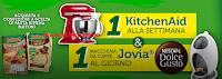 Logo Con Buitoni vinci 57 macchine Nescafè e 11 robot KitchenAid