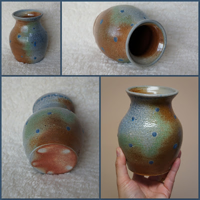 Soda fired jar / vase, handmade pottery by Lily L.