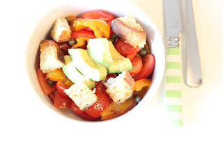 salade pain tomate avocat