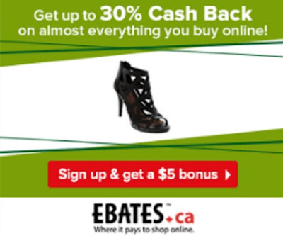 Ebates $5 Bonus + Up To 30% Off Cash Back