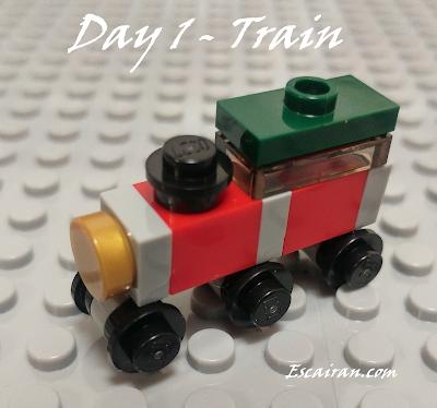 Lego City advent calendar 2017 day 1, Train