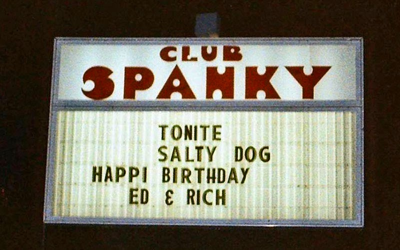 Club Spanky marquee 1979 in Long Branch, New Jersey