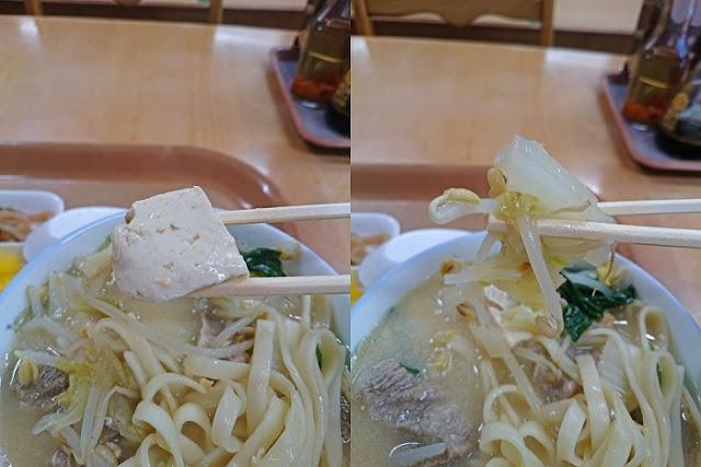 島豆腐と白菜+モヤシの写真