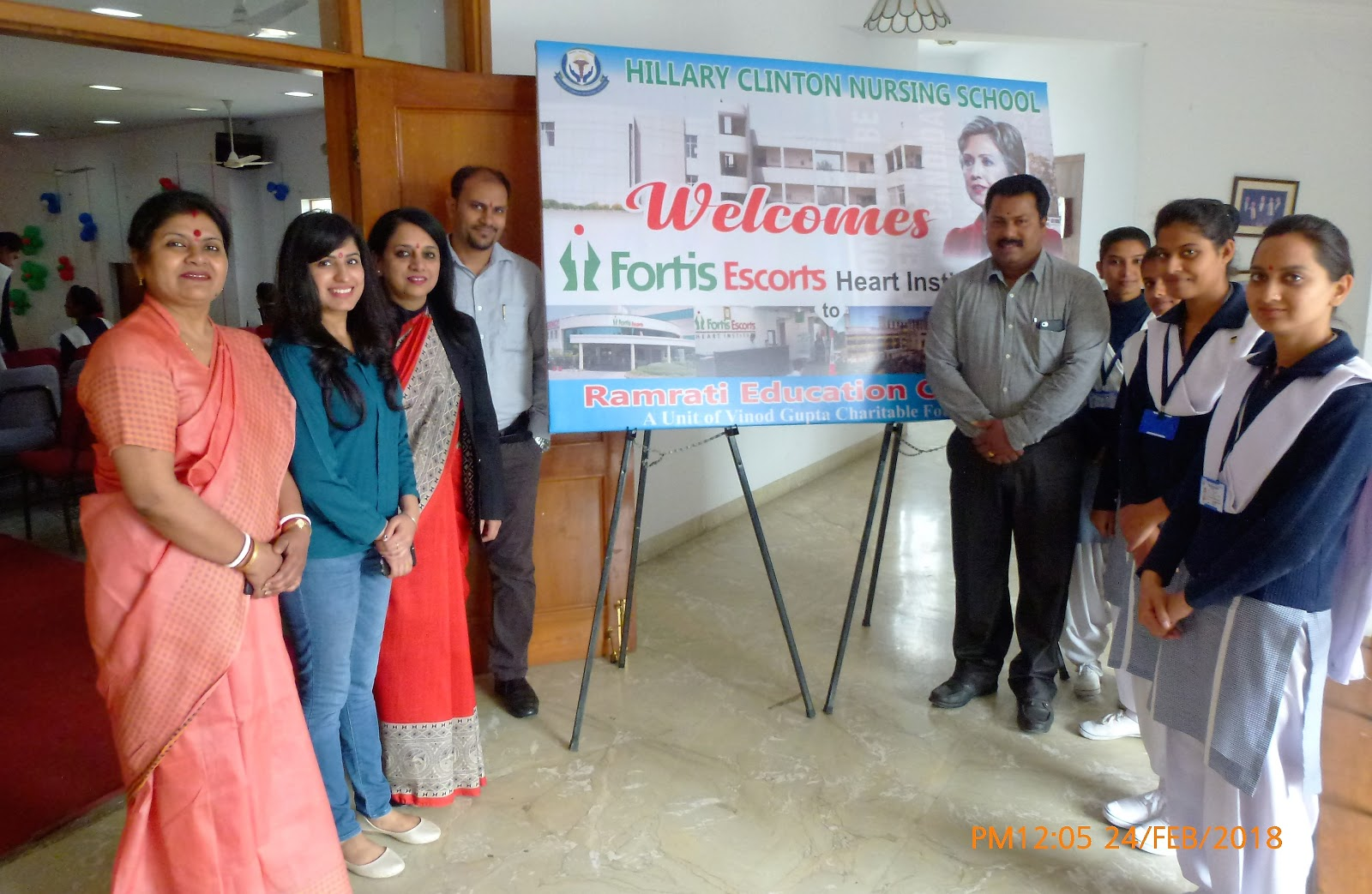 Visit Of Fortis Escort Team Dated On 24th Feb 2018