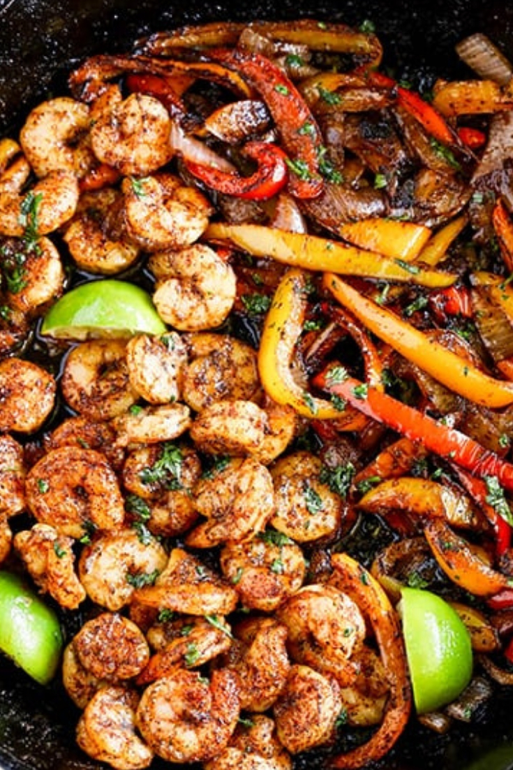 Skillet Shrimp Fajitas Easy Dinner Recipe