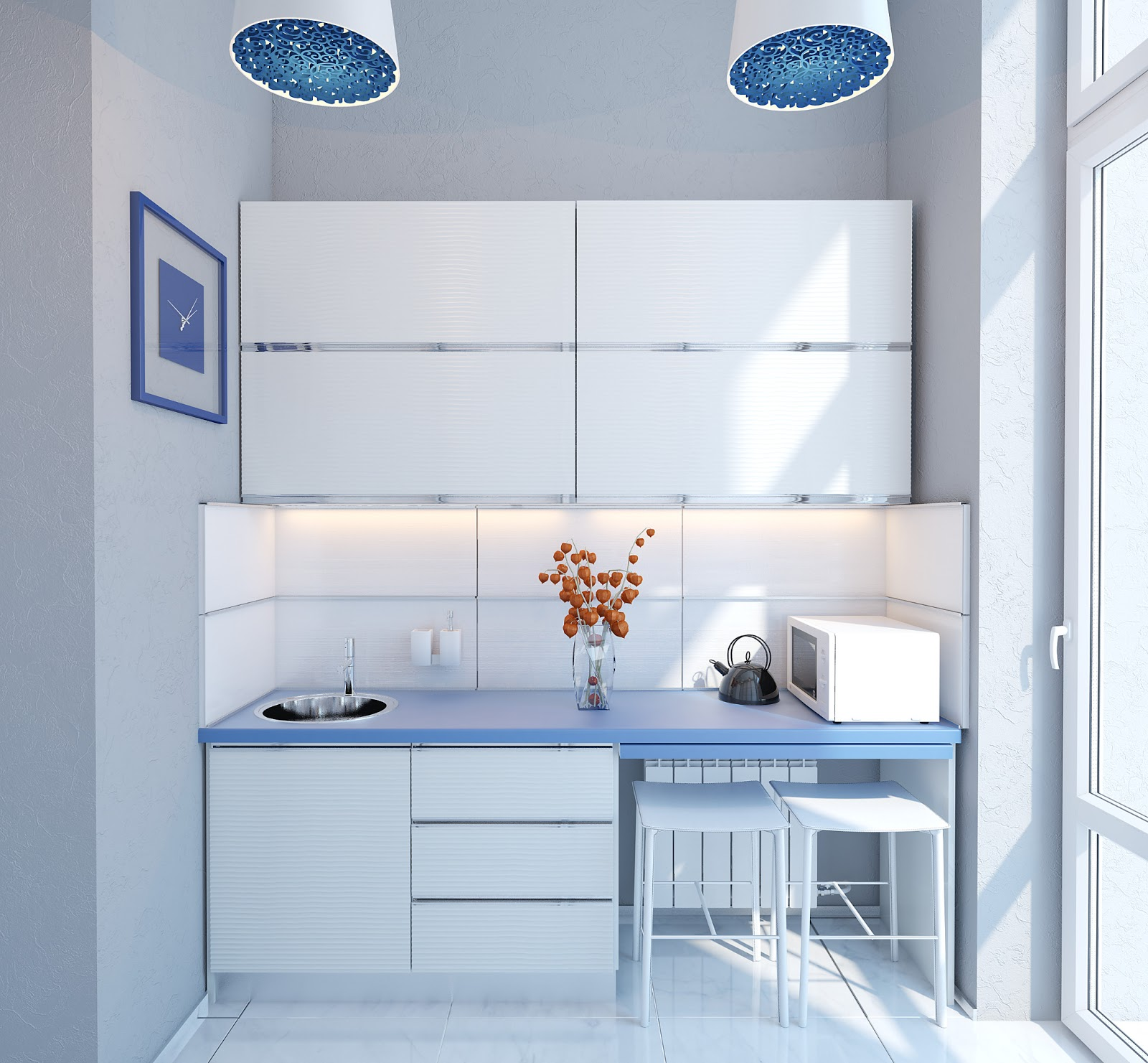 3d Design: Very Small Kitchenette